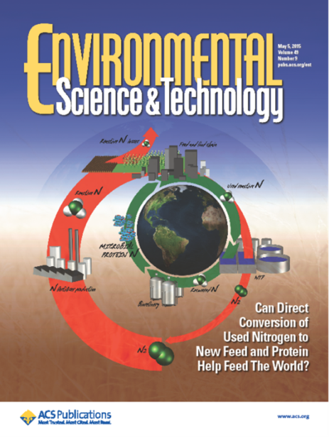 The Power to Protein concept on the cover of the Environmental Science & Technology, May 2015